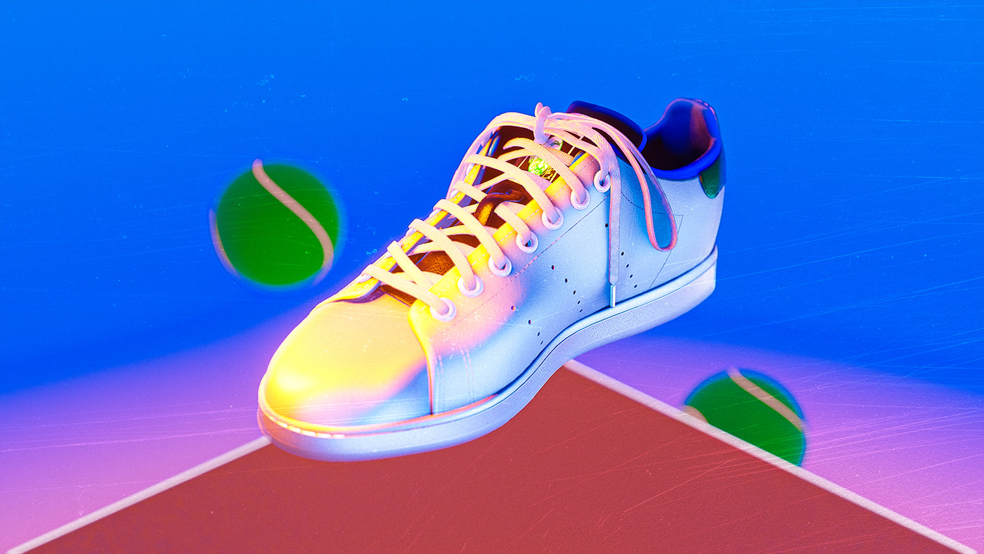 Front view of the Adidas Stan Smash sneaker