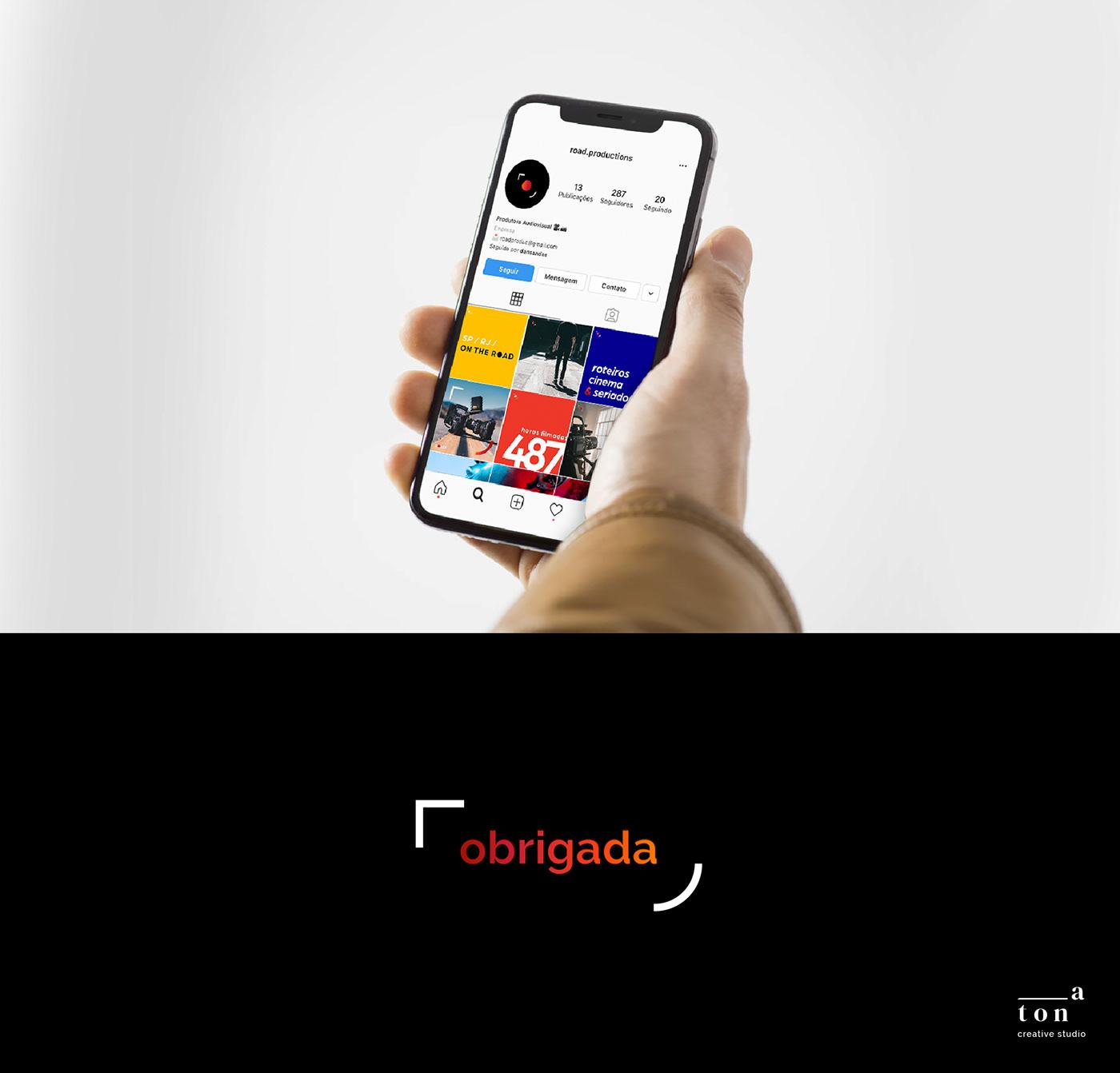 design gradiente identidade visual produtora visual