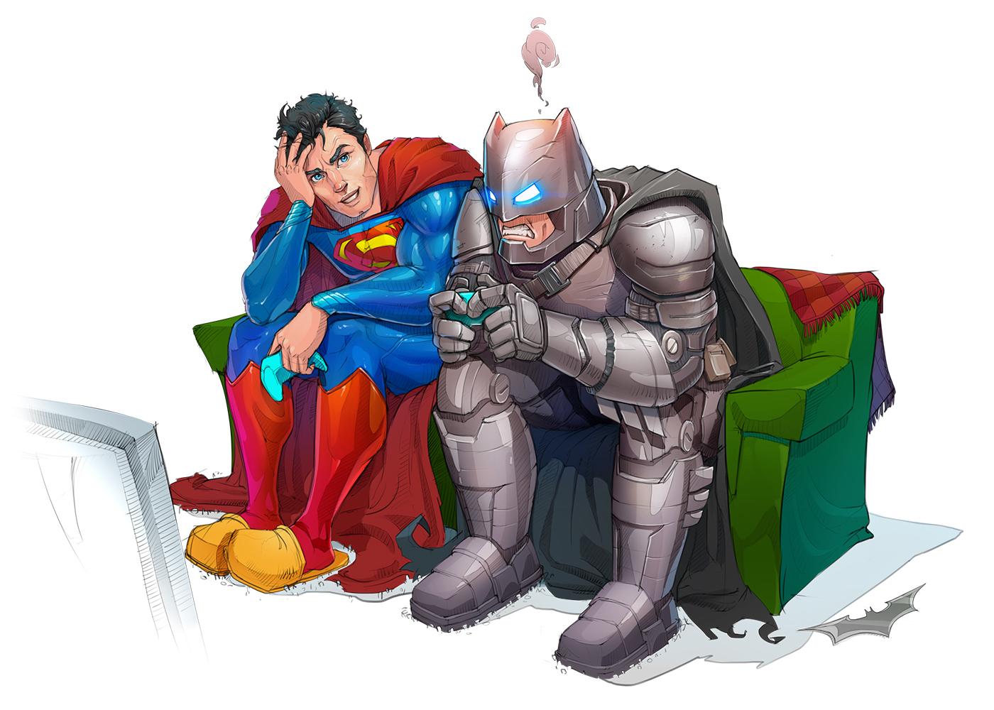 batman superman Justice battle fighting controller game Character dc comic