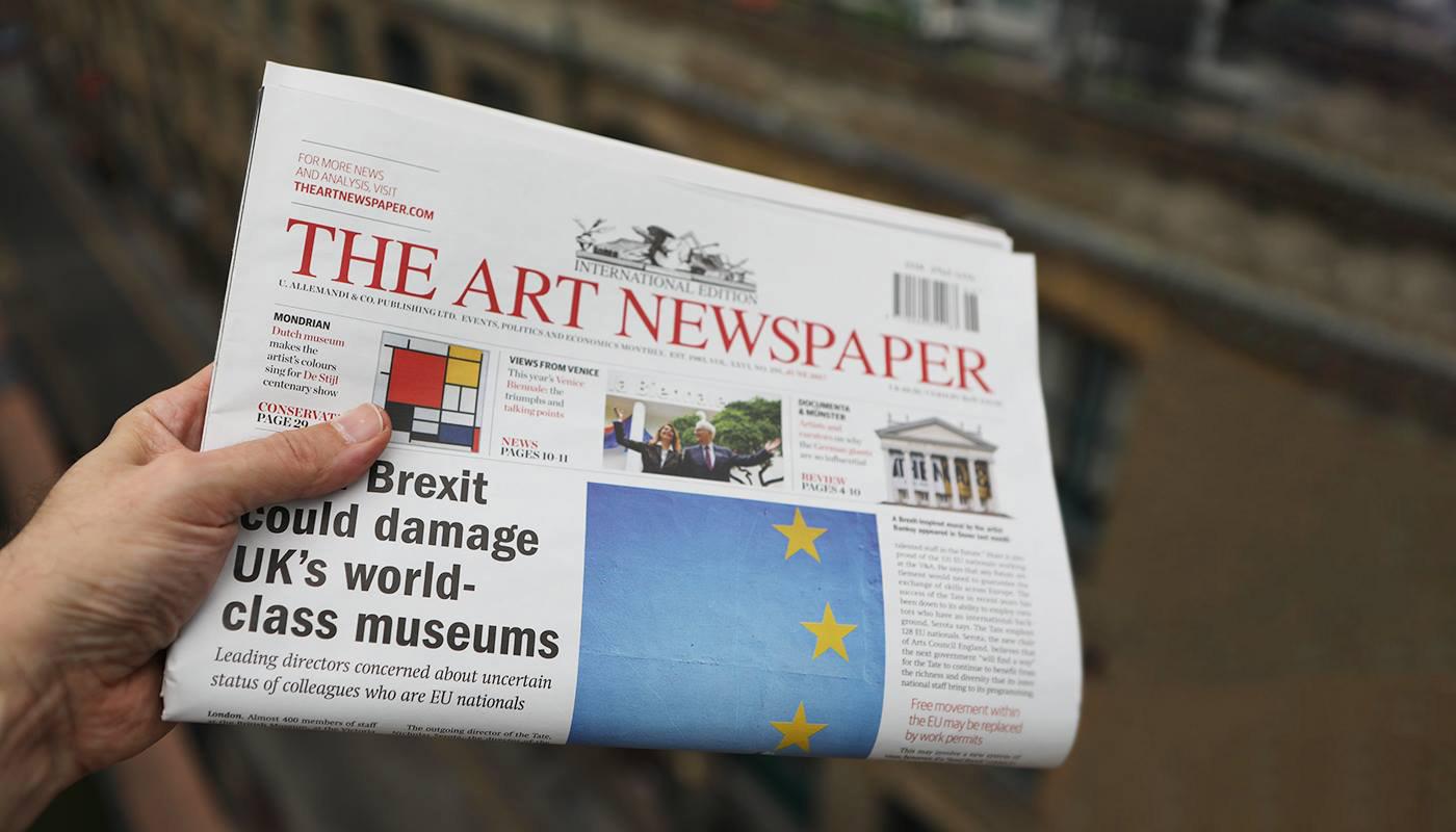 design concept magazine Minimalism minimalistic design news newspaper the art newspaper Website