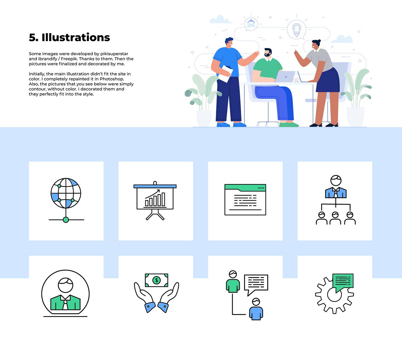 UI ux Web Design  landing page job Work  Interface mobile desktop landing