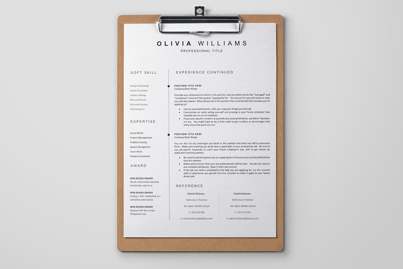clean cover letter clean resume cover letter CV free freebie PROFESSIONAL RESUME Resume resume template template
