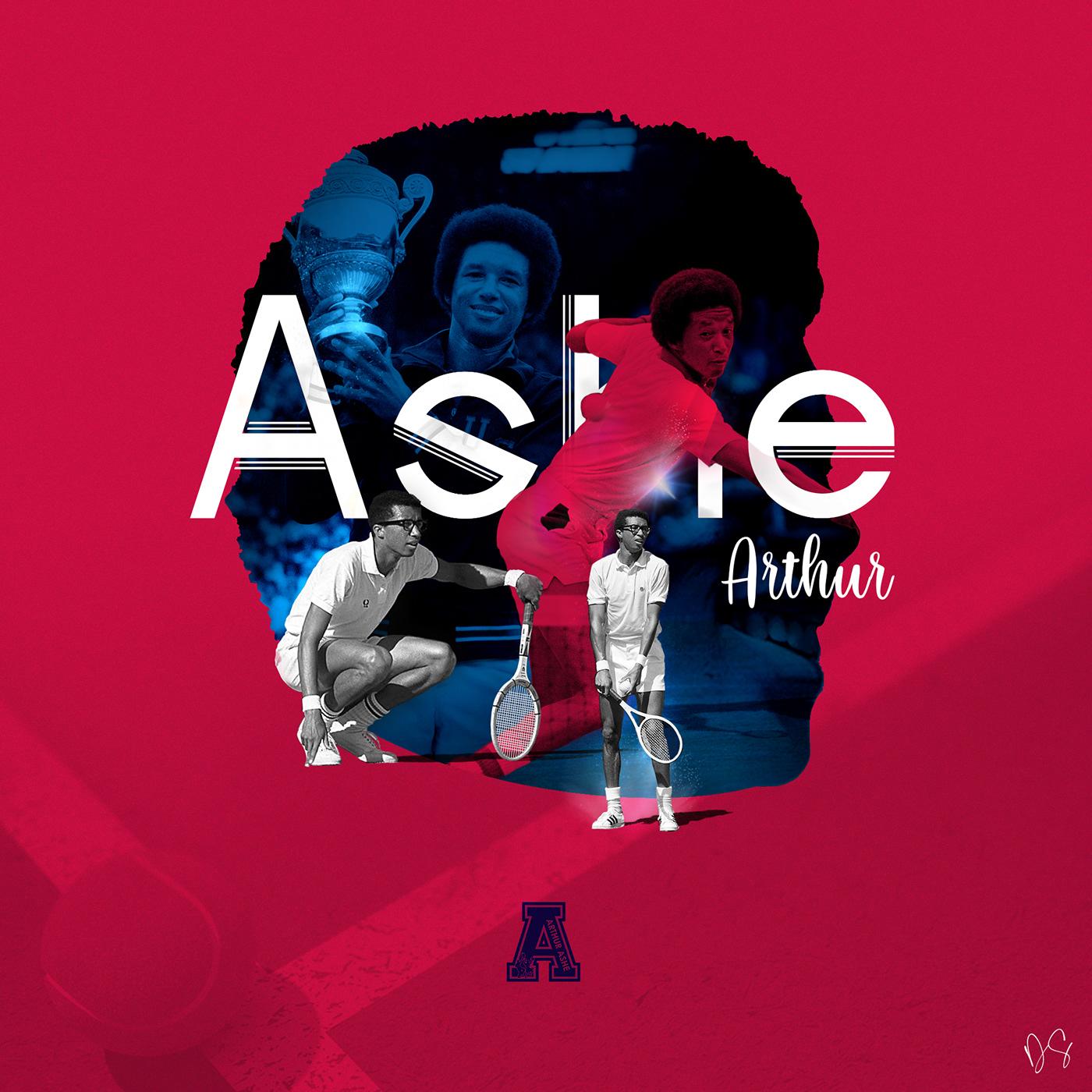 Portrait d'hommage à Arthur Ashe