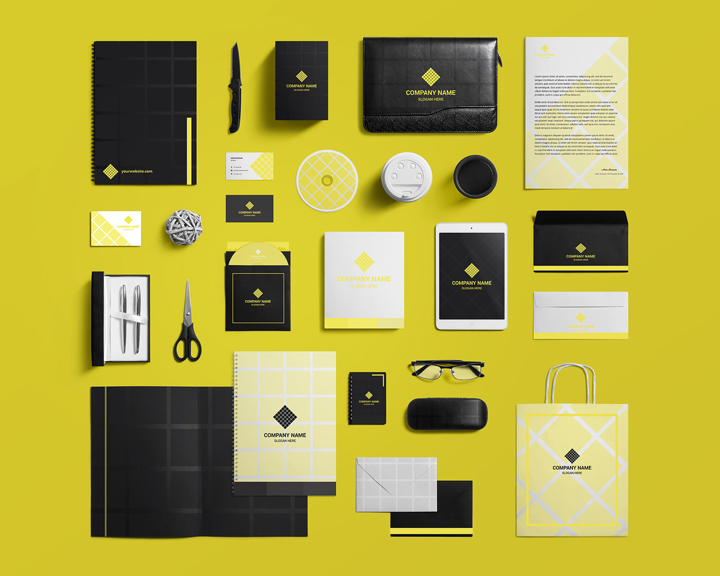 Stationary Design Template