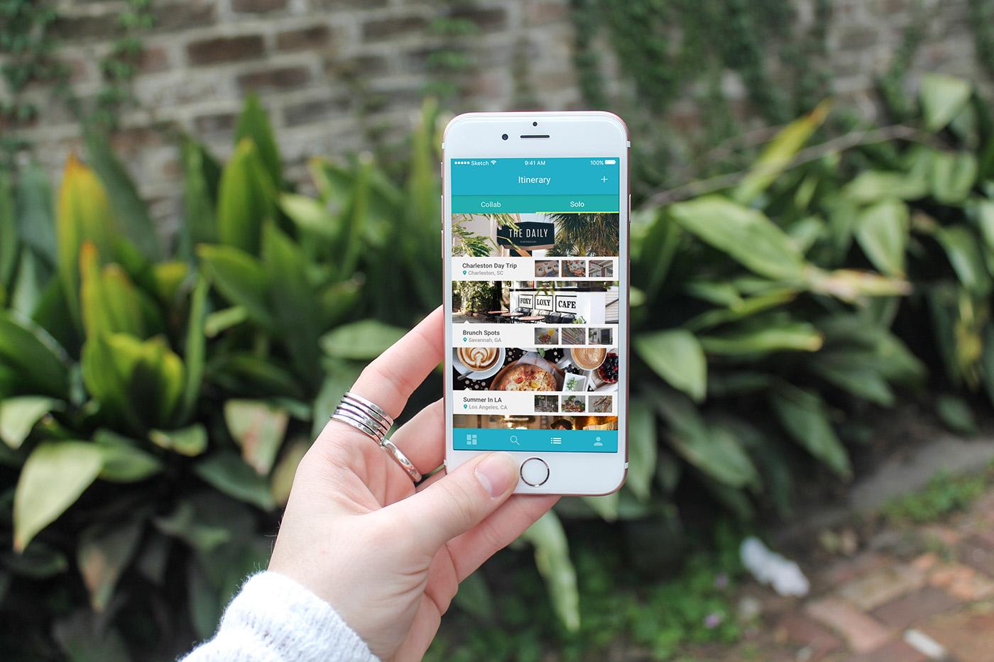 localite SCAD Interface Travel App app app design UI colorful Travel ux research explore experience design brand digital