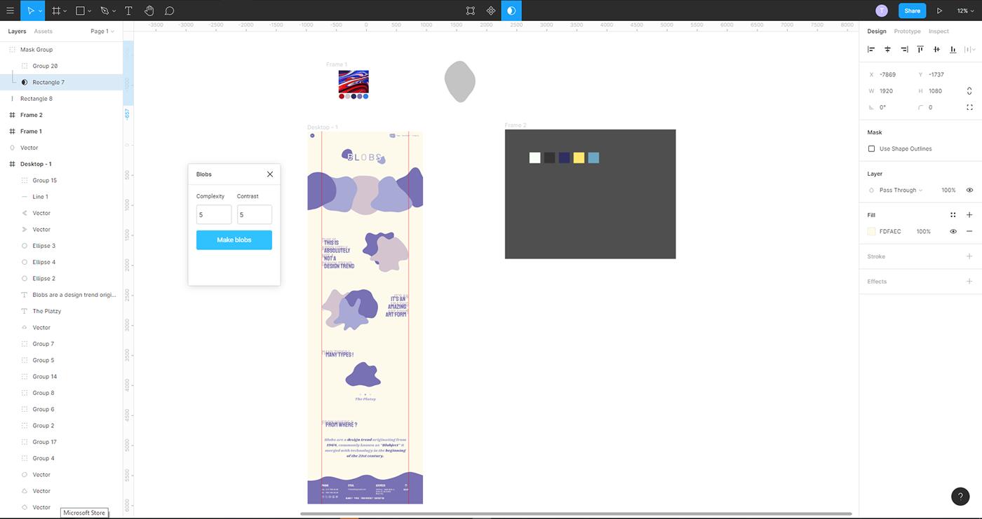 Blobs Web Design