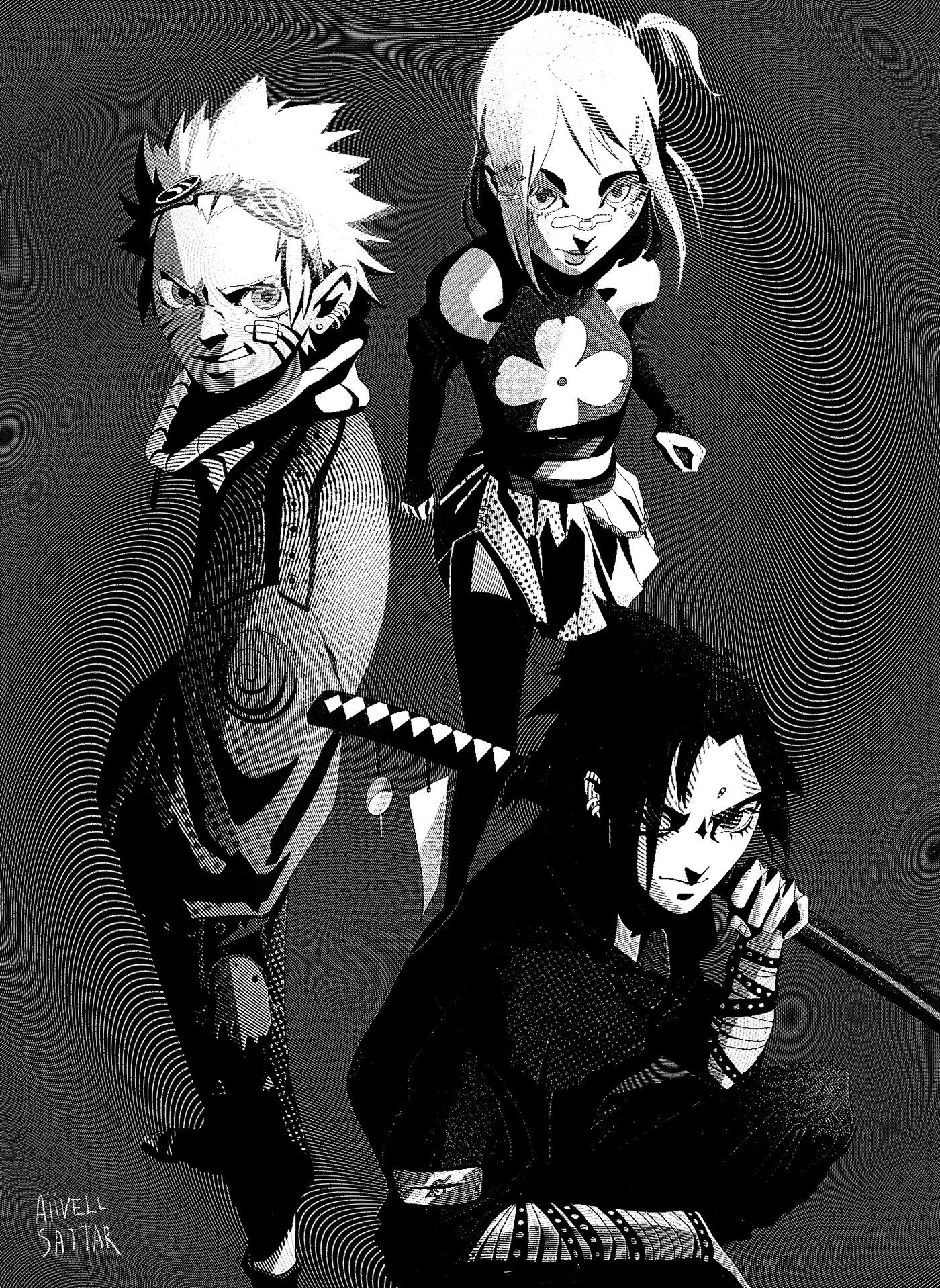 naruto sakura sasuke team 7 uchiha Uzumaki