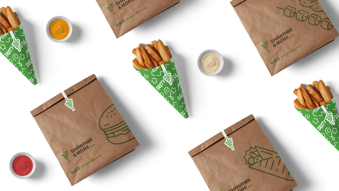 branding  Broasted burger logo restaurant shawarma Shish Taouk motion