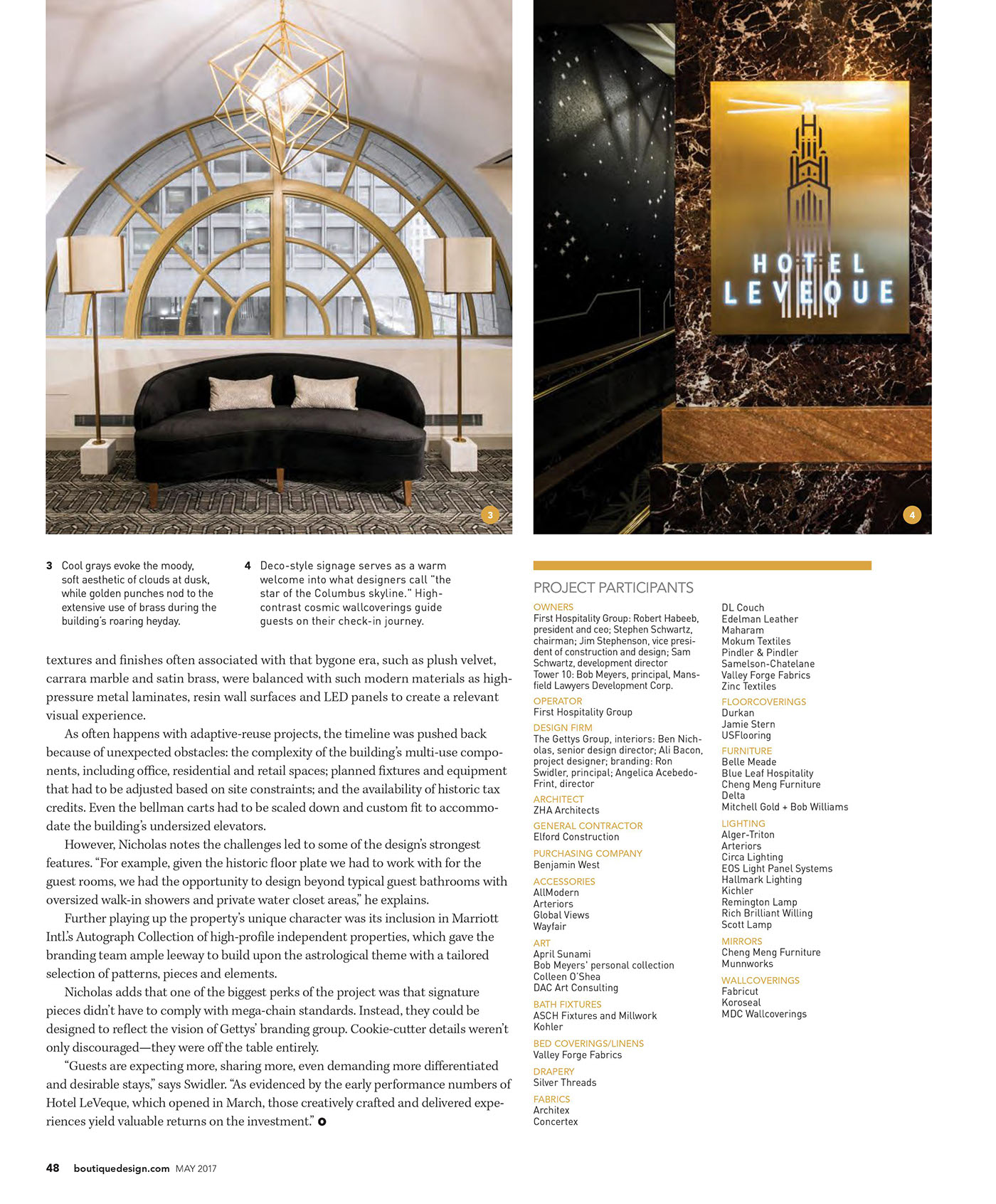 Hospitality hotels The Gettys Group Autograph Collection brand boutique magazine interior design  Photography  digital