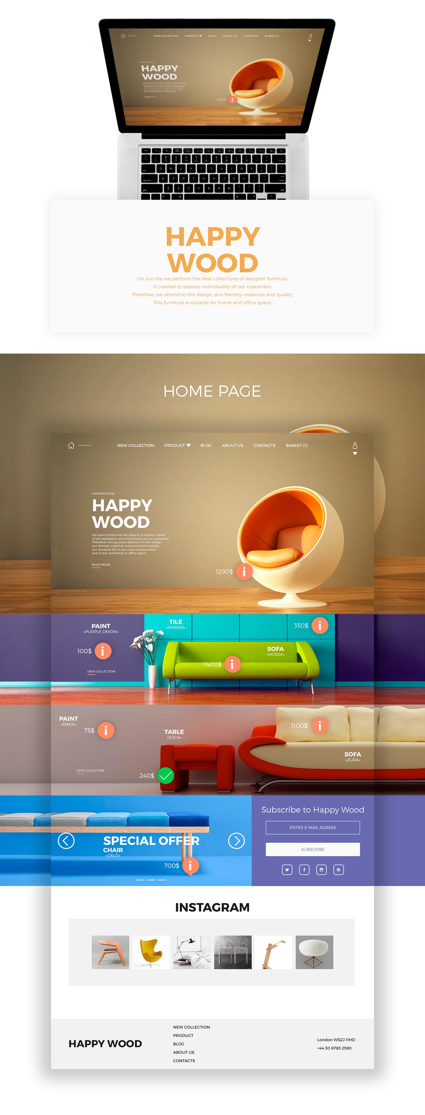 «HAPPY WOOD»在线电商平台设计