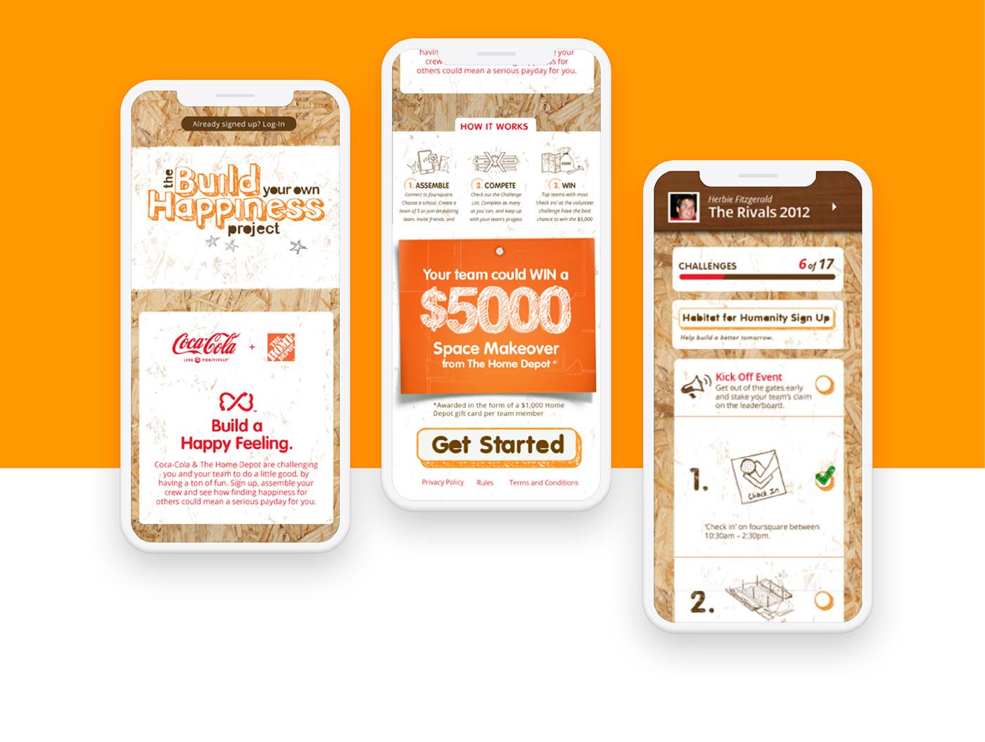 homedepot Coca-Cola interactive mobile social media foursquare Experiential local Responsive