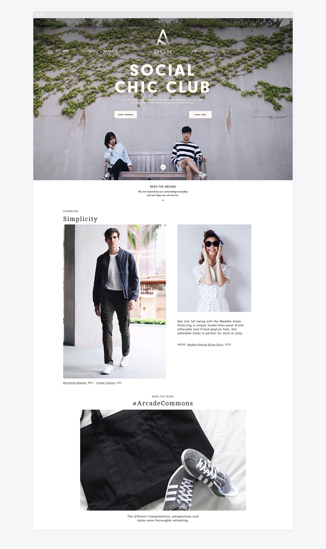 Adobe Portfolio Website Responsive e-commerce singapore blogshop shop store Fashion  female