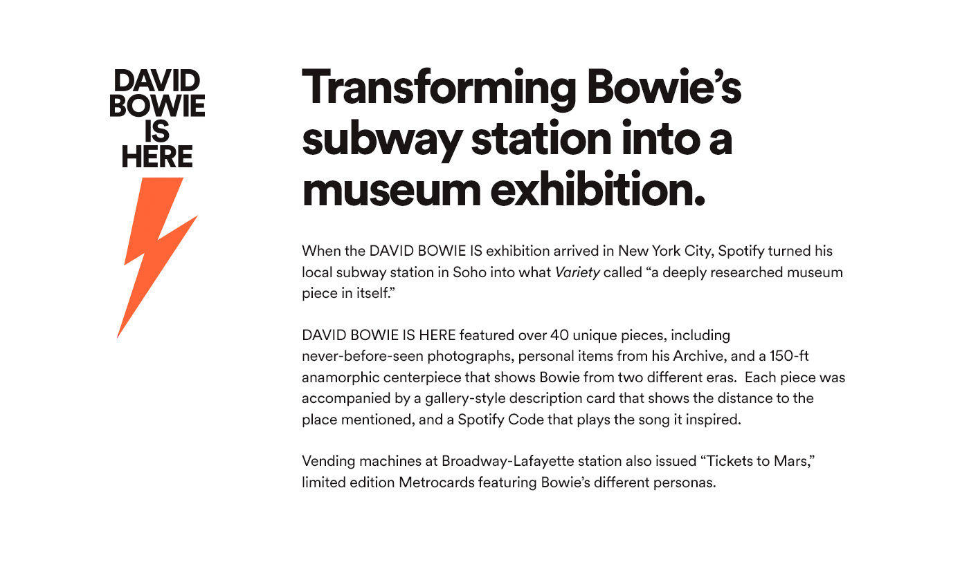 spotify music david bowie New York Exhibition  Photography  museum subway art nyc