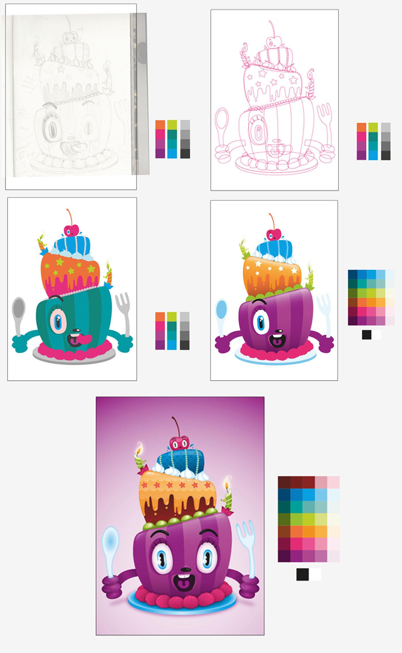 有創意感的19套生日蛋糕圖案欣賞