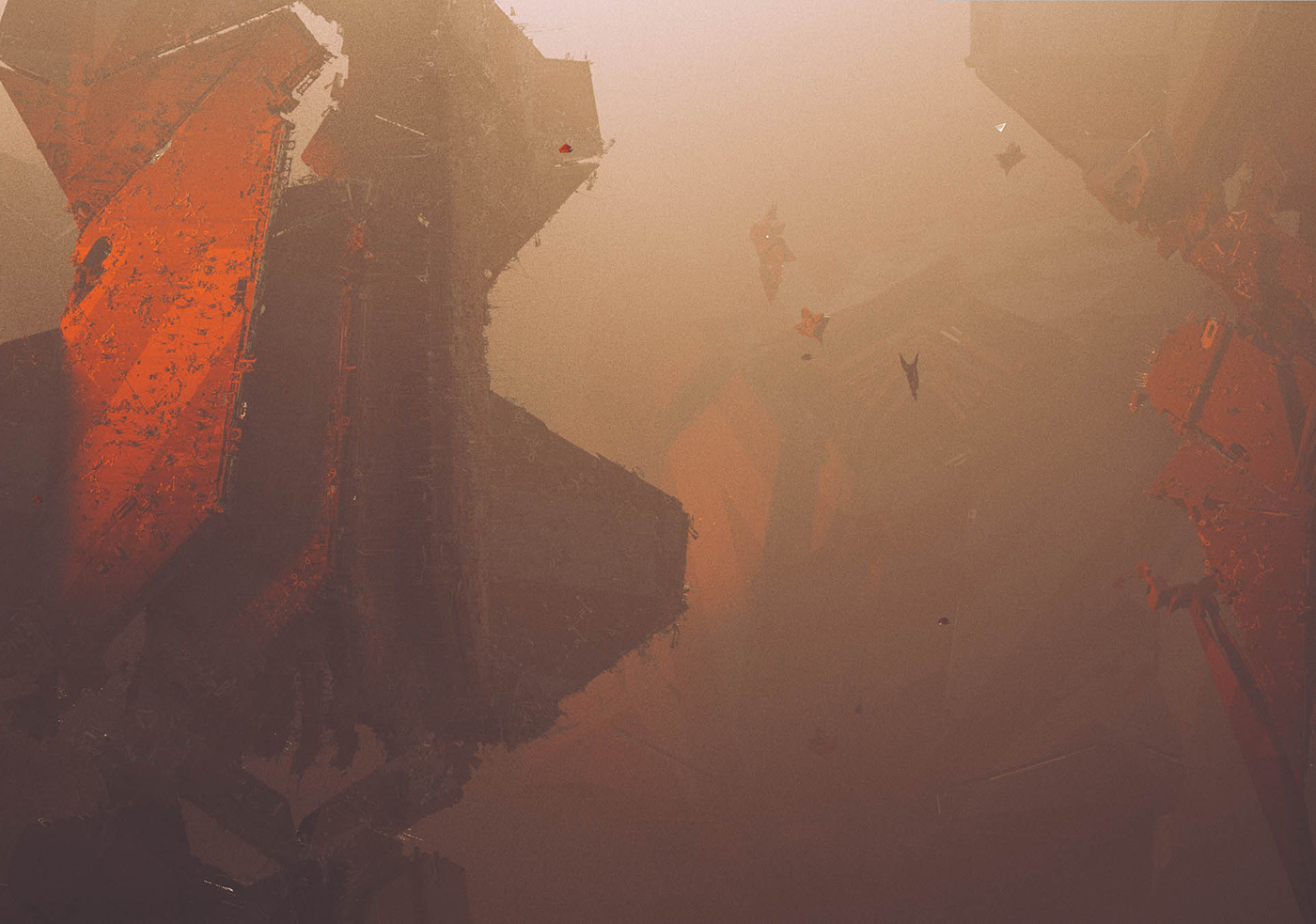 architecture city Planets Space  Void sci-fi