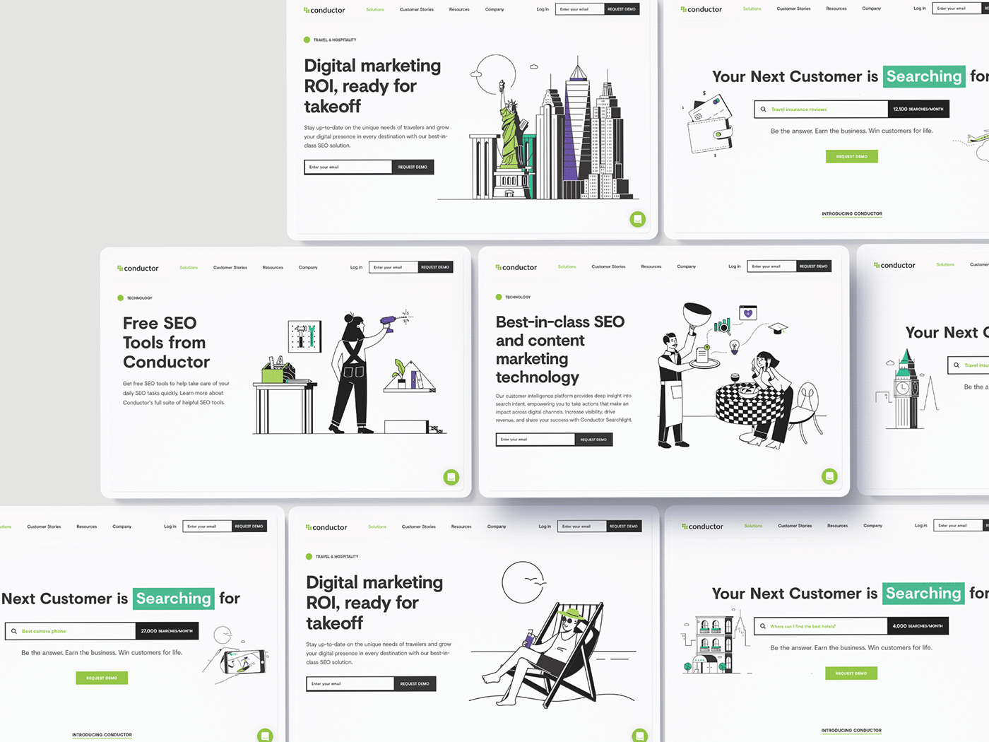 characters ILLUSTRATION  saas landing page simple vector