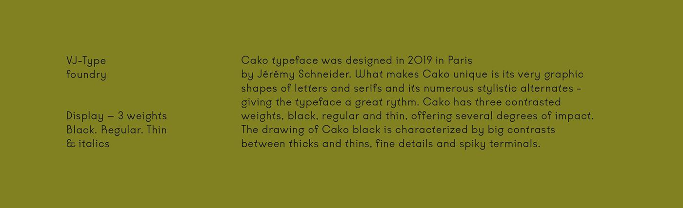 type vj-type vj-type.com cako font cako black Violaine & Jeremy Cocteau typography   ligature