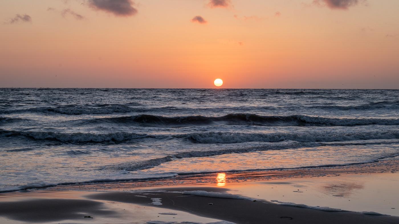 beach golden hour sea seascape sunset