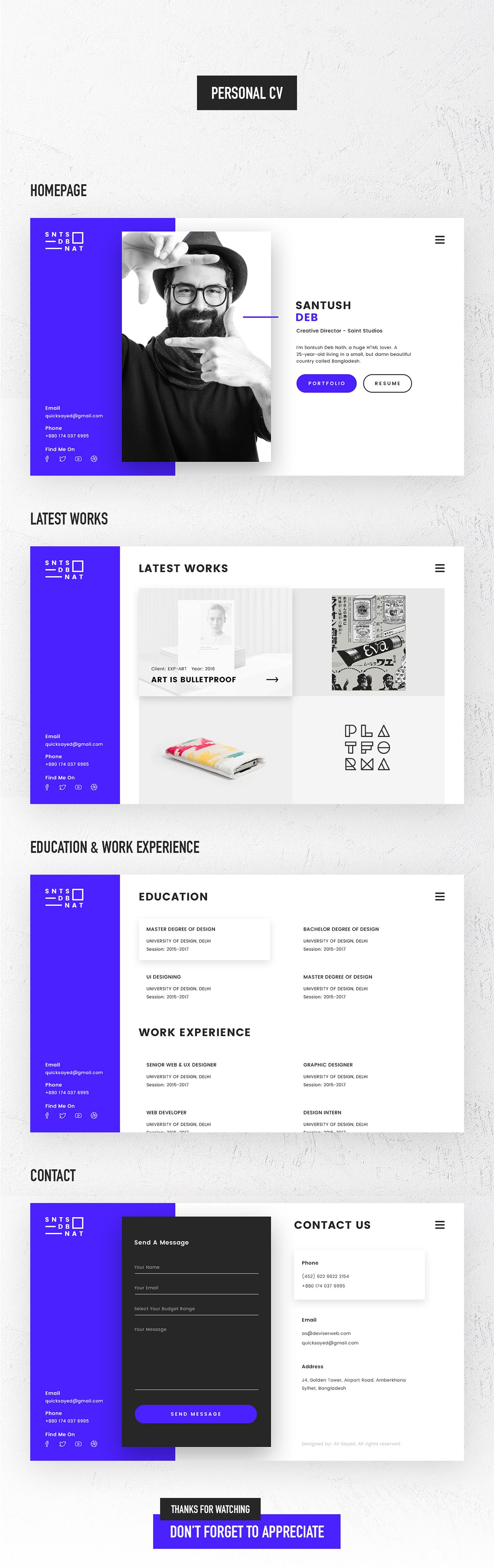 ux,UI,Web,site,Resume,vcard,personal,portfolio,simple,clean,modern,CV