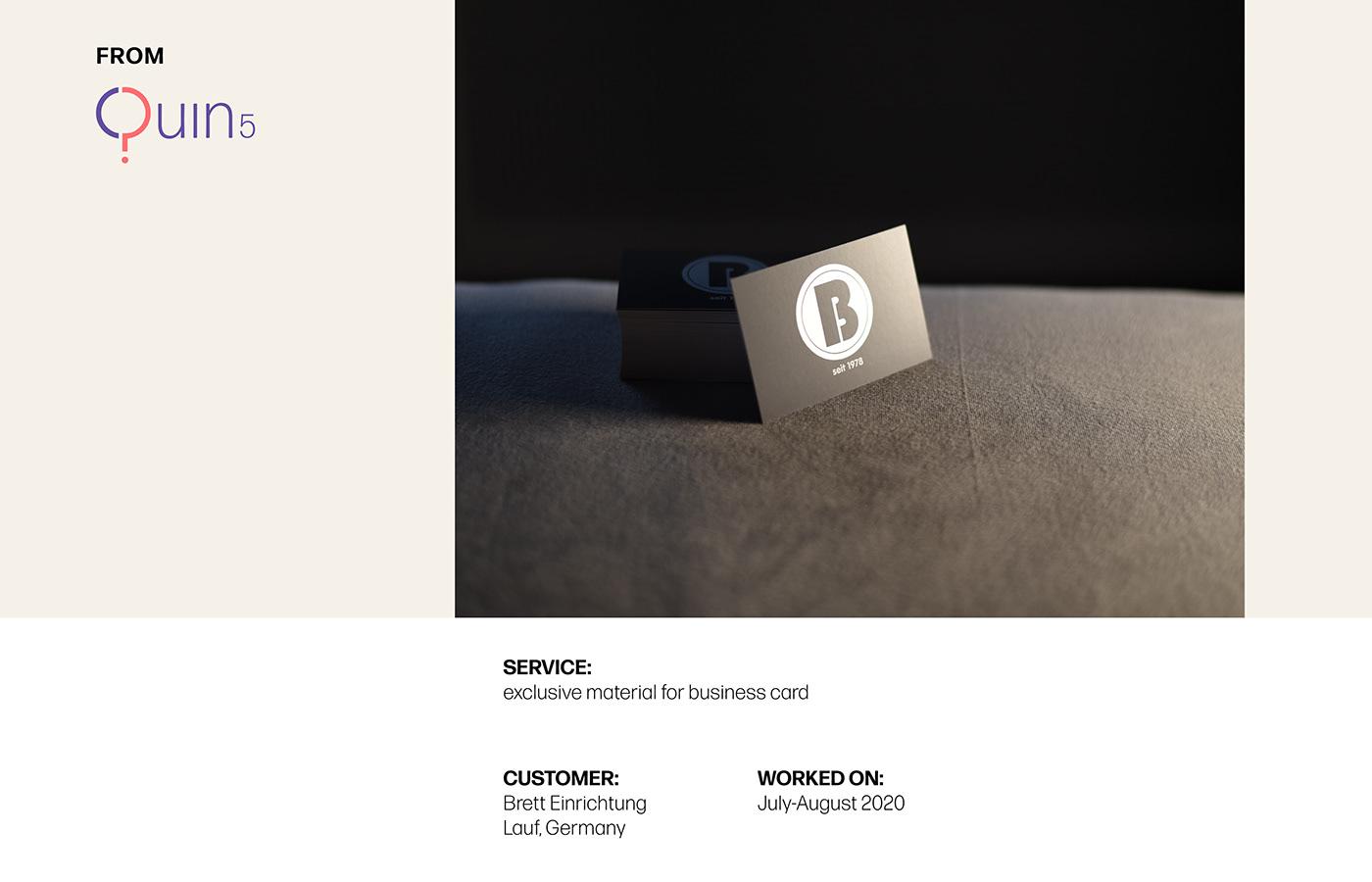 business card dark grey
