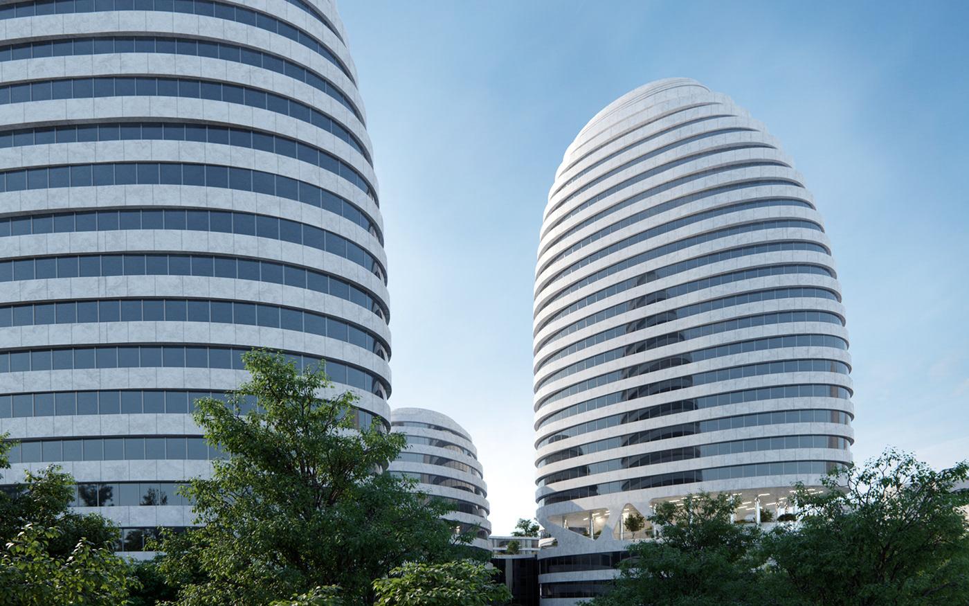 coronarenderer architecture visualization Render 3dsmax residential housing Urban apartments