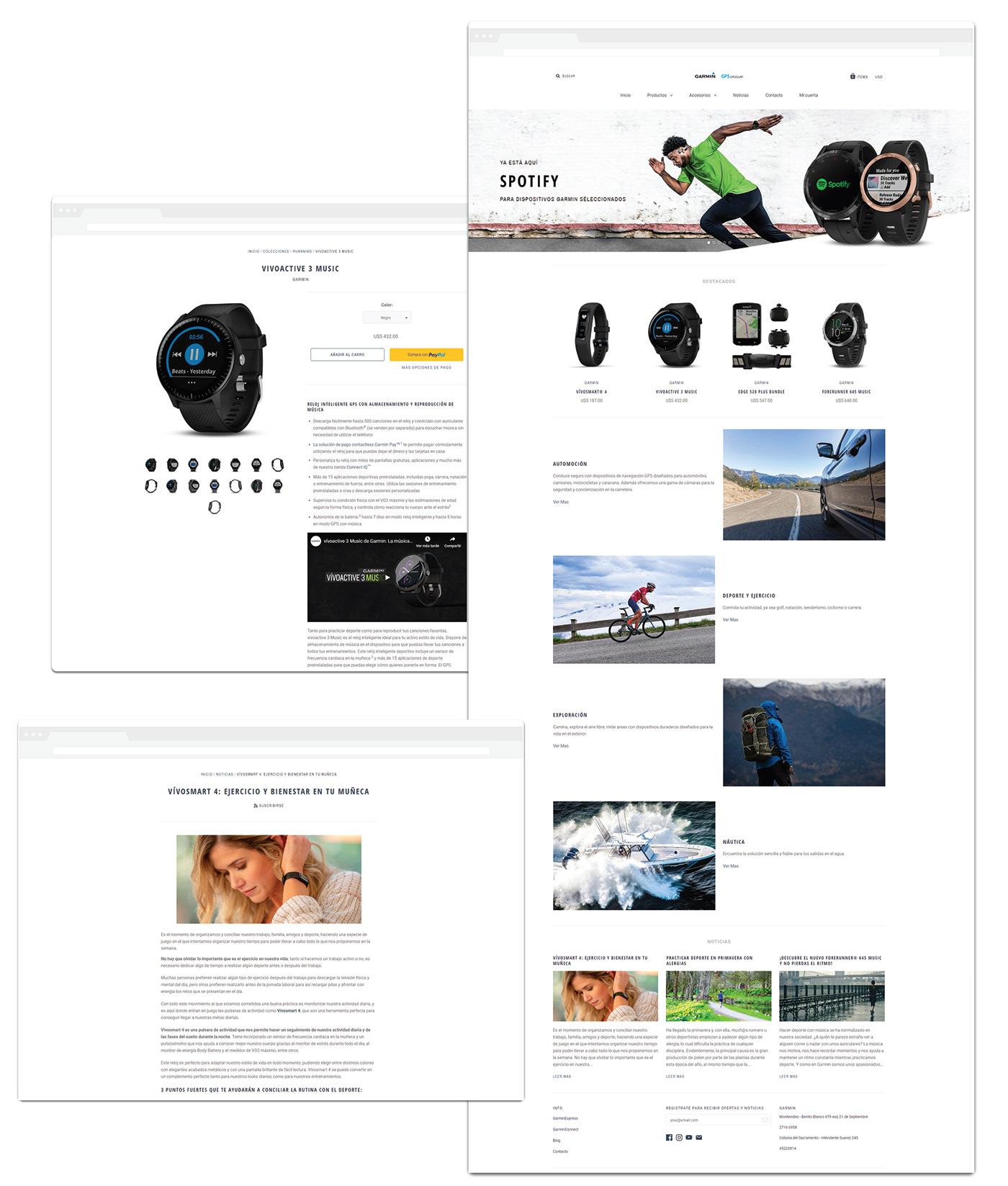 Garmin Website Adobe XD Web Responsive Web Design