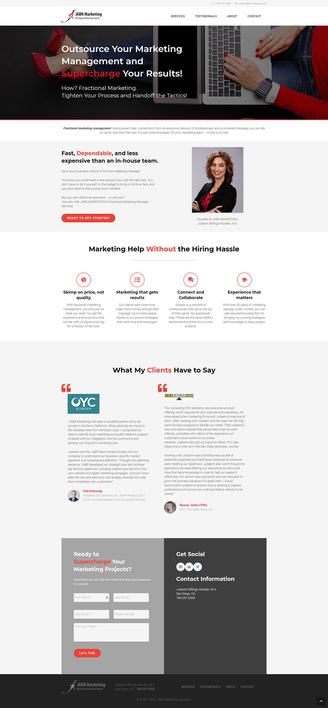 WordPress Website - JABR MARKETING