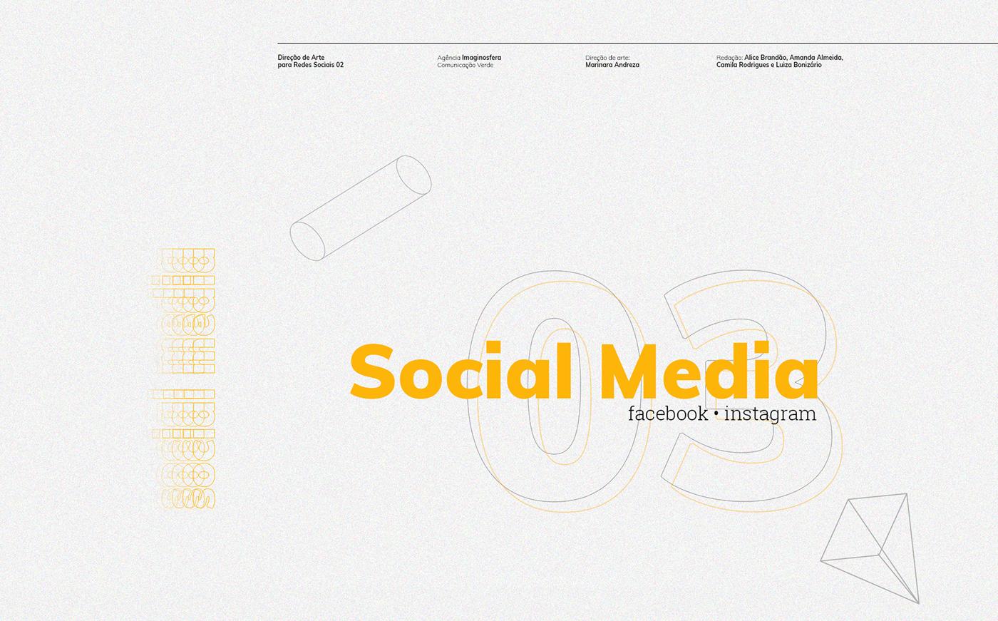 Socialmedia post facebook ads instagram Redes Sociais