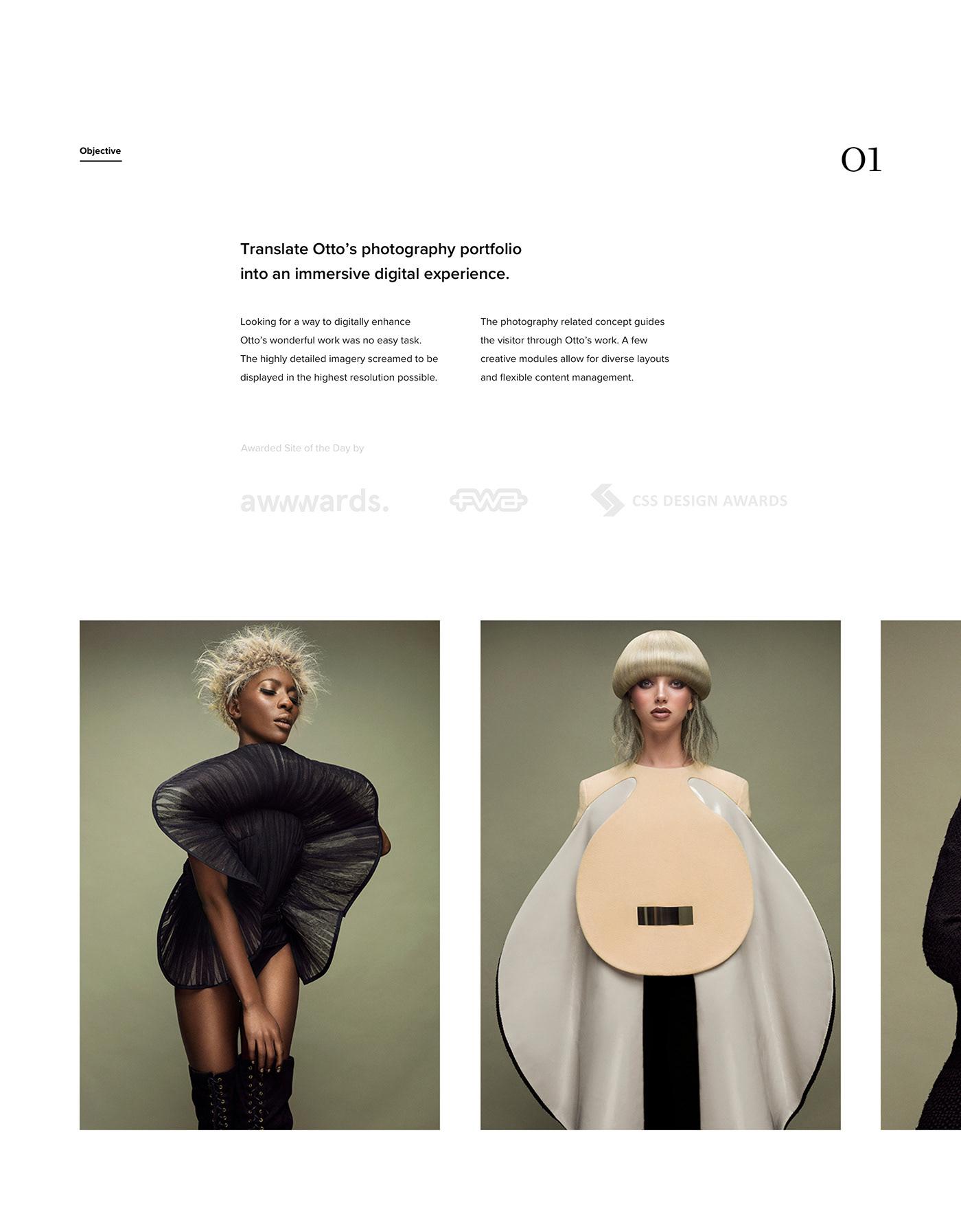 Luxury sans-serif typeface for fashion website