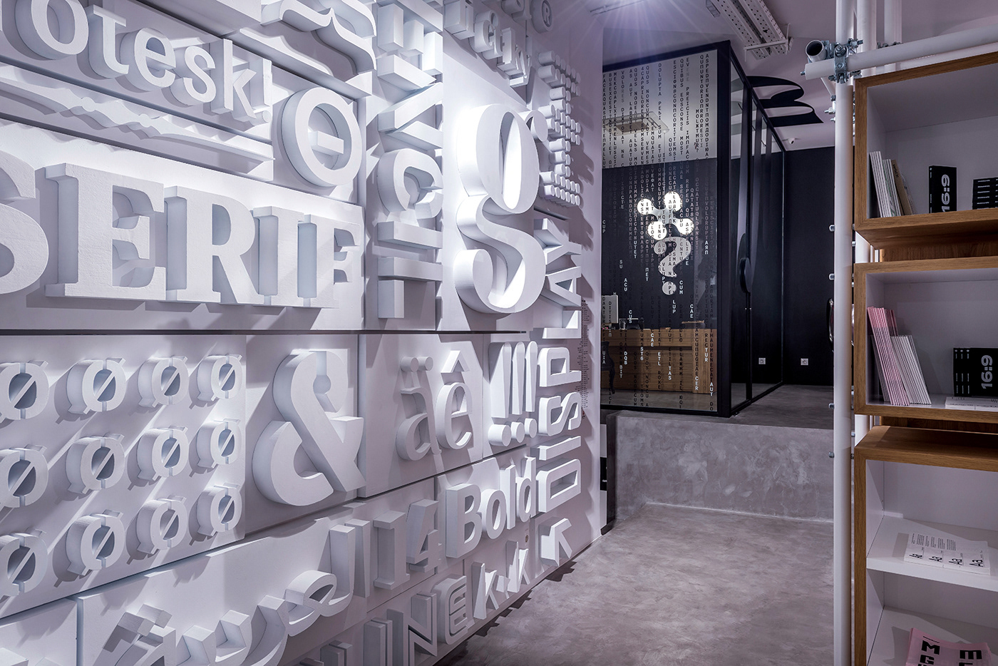 typography   typeroom letters fonts typefaces Interior athens Greece Creative Hub