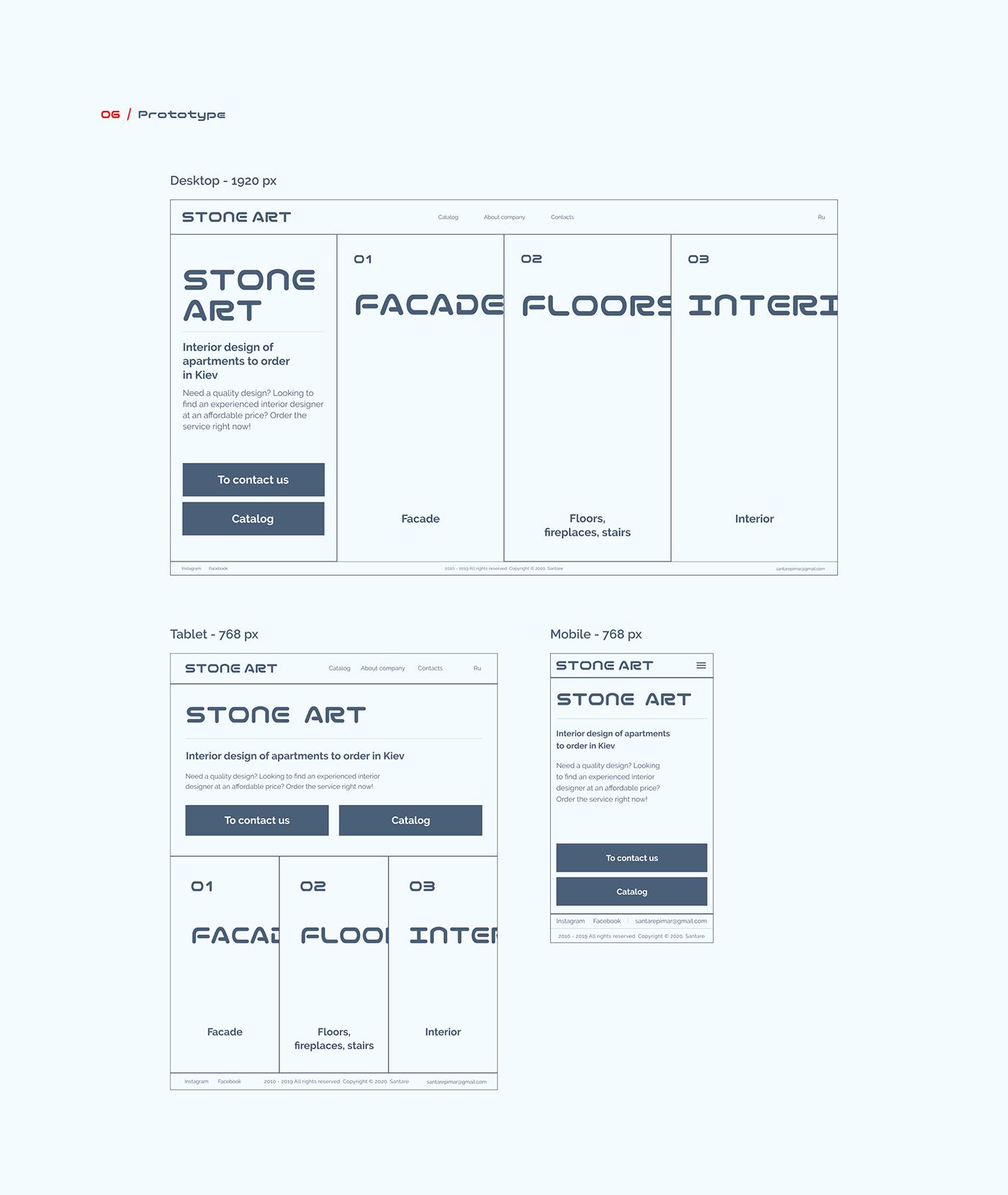 animated creative Interaction design  online store prototype stone user interface ux/ui web-design White