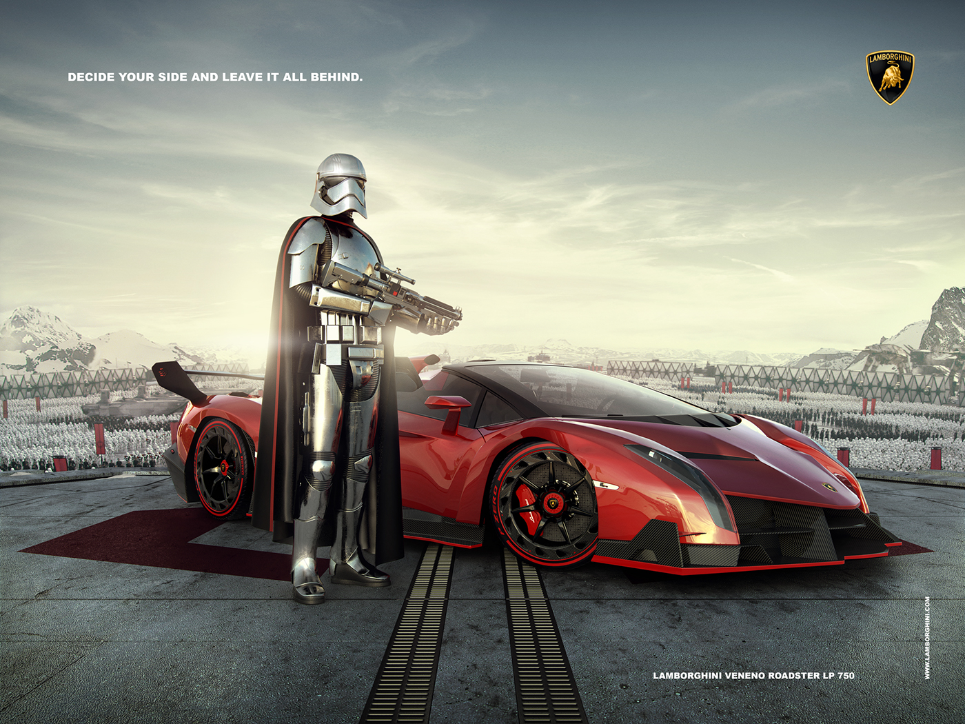 Lamborghini Advertising Captain Phasma On Behance