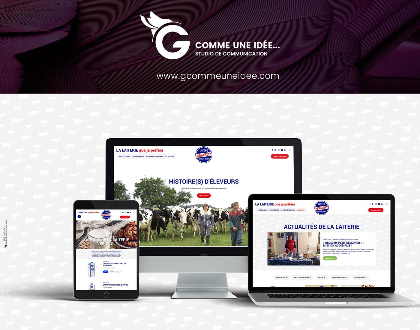 Agence de communication, création site wordpress, webdesign, UX