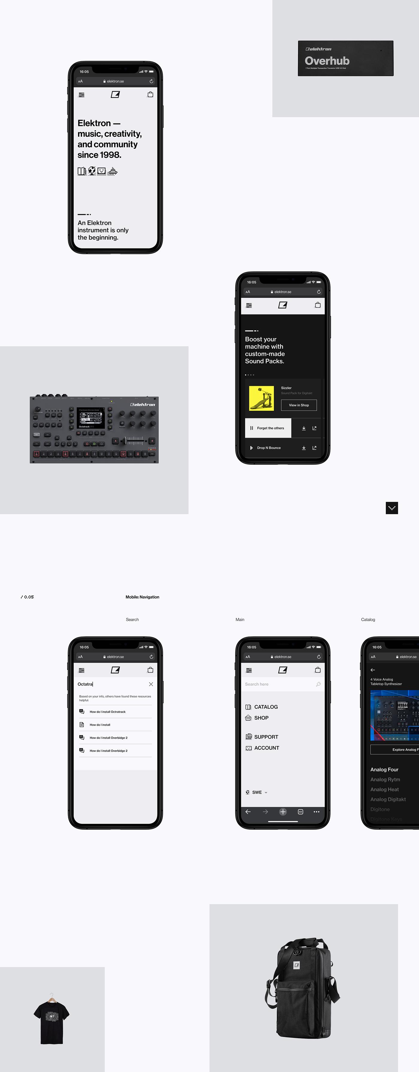 clean elektron instruments Layout music Scandinavian UI ux vietnam e-commerce