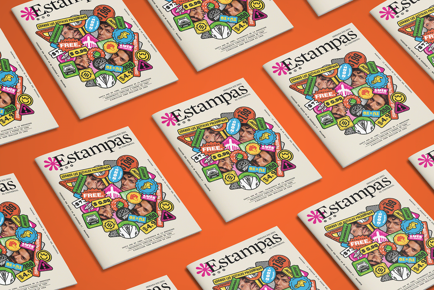 editorial Graphic Designer ilustration iustration magazine Portada de revista rawayana Revista Estampas stickers venezuela