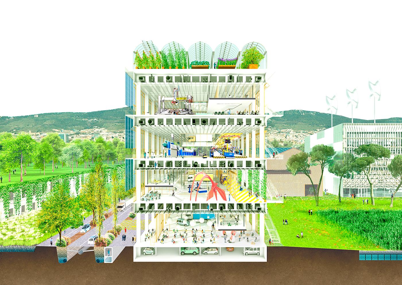Torrent estadella eco industrial park on behance for Fabrik landscape architects