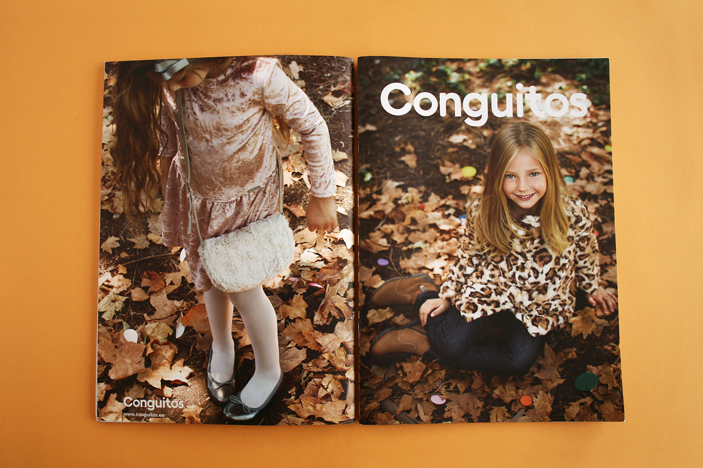 design graphic Lookbook Fall Conguitos photo kid Clothing shoes Catalogue