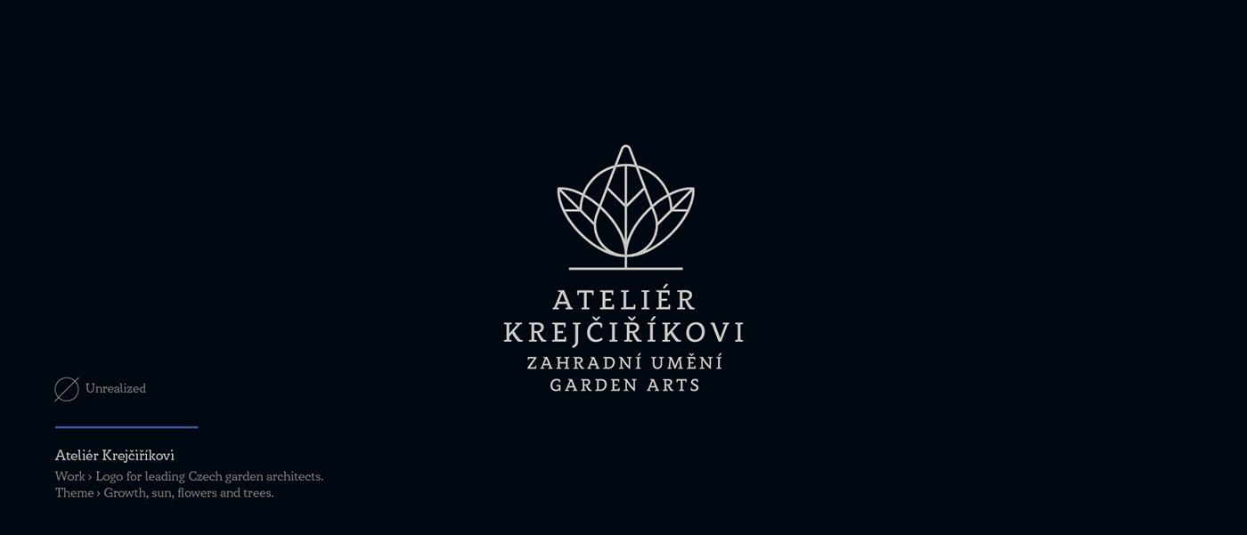 Atelier Krejcirikovi - unrealized logo for garden architects