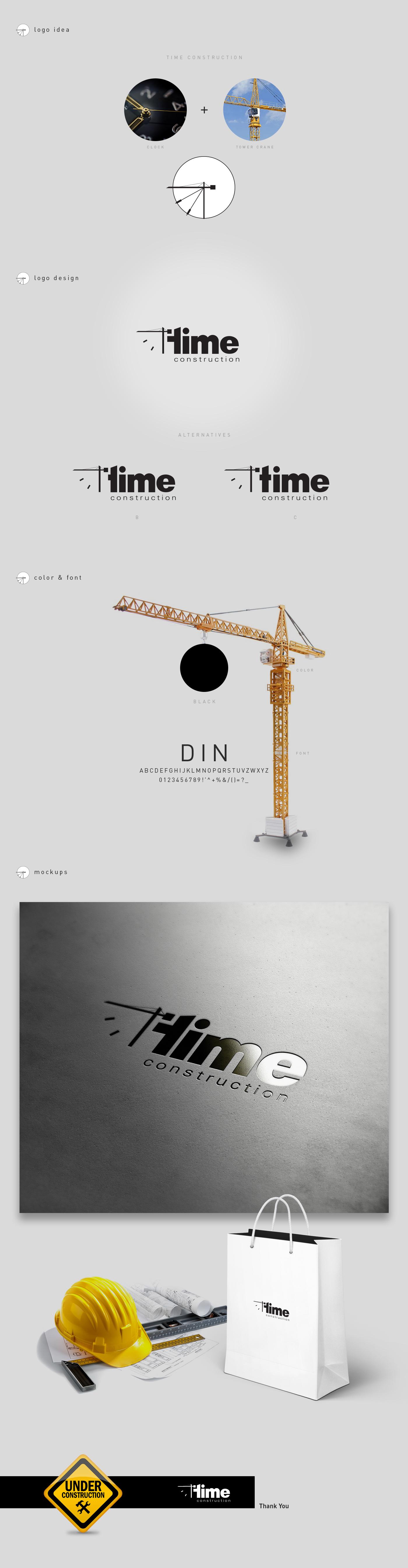 logo design construction crane lift construction company Corporate Identity branding
