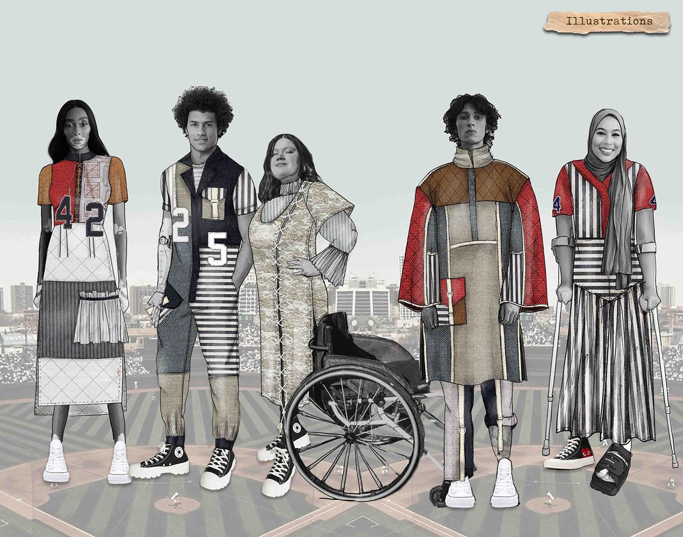 adaptive fashion concept development fashion collection fashion design fashion illustration Garment Construction Menswear patternmaking technical flats womenswear