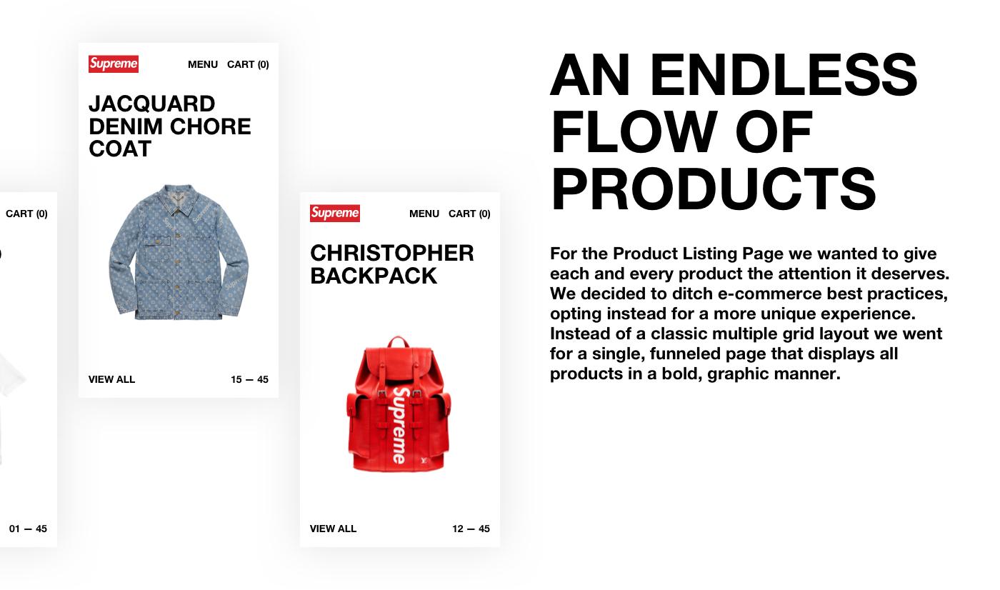 Fashion  e-commerce shop ux UI Street minimal Brutalist bold helvetica