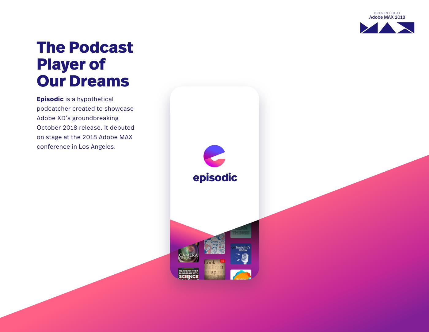 UI ux presentation Adobe MAX podcast xD Voice Prototyping