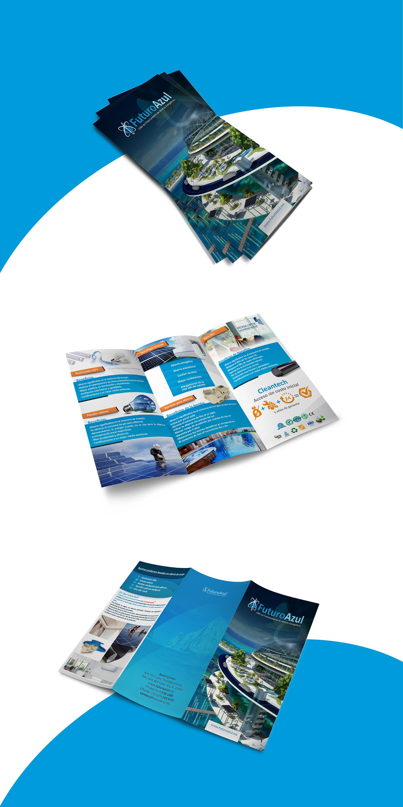 trifold triptico publicidad diseño graphic design