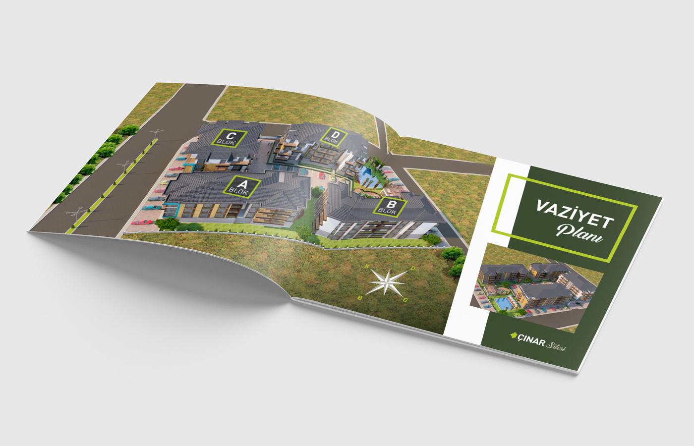 baskı dura yapı inşaat katalog ofset Plan proje site tasarım
