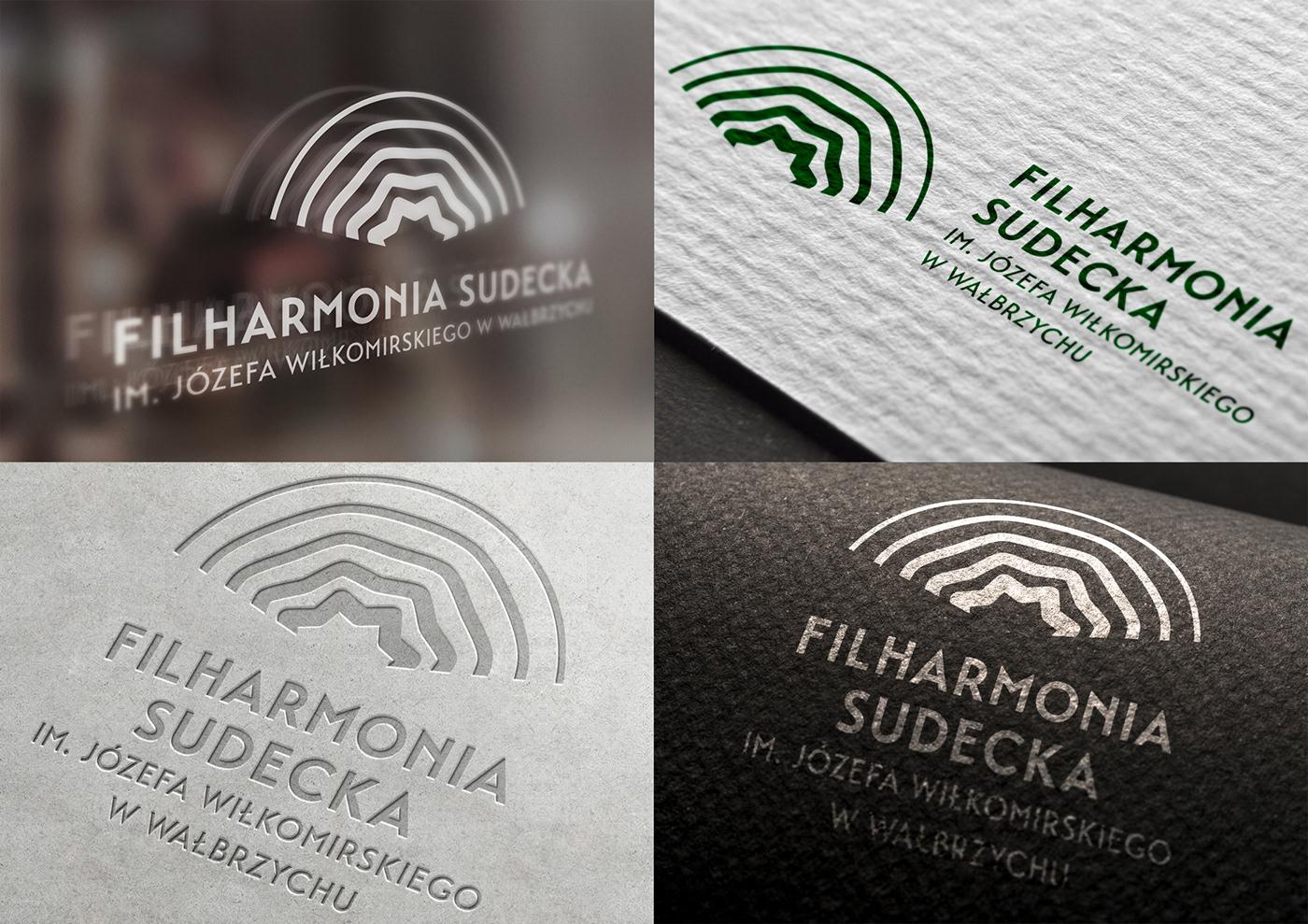 filharmonia identity identyfikacja wizualna logo mountain music oak orchestra philharmonic sound