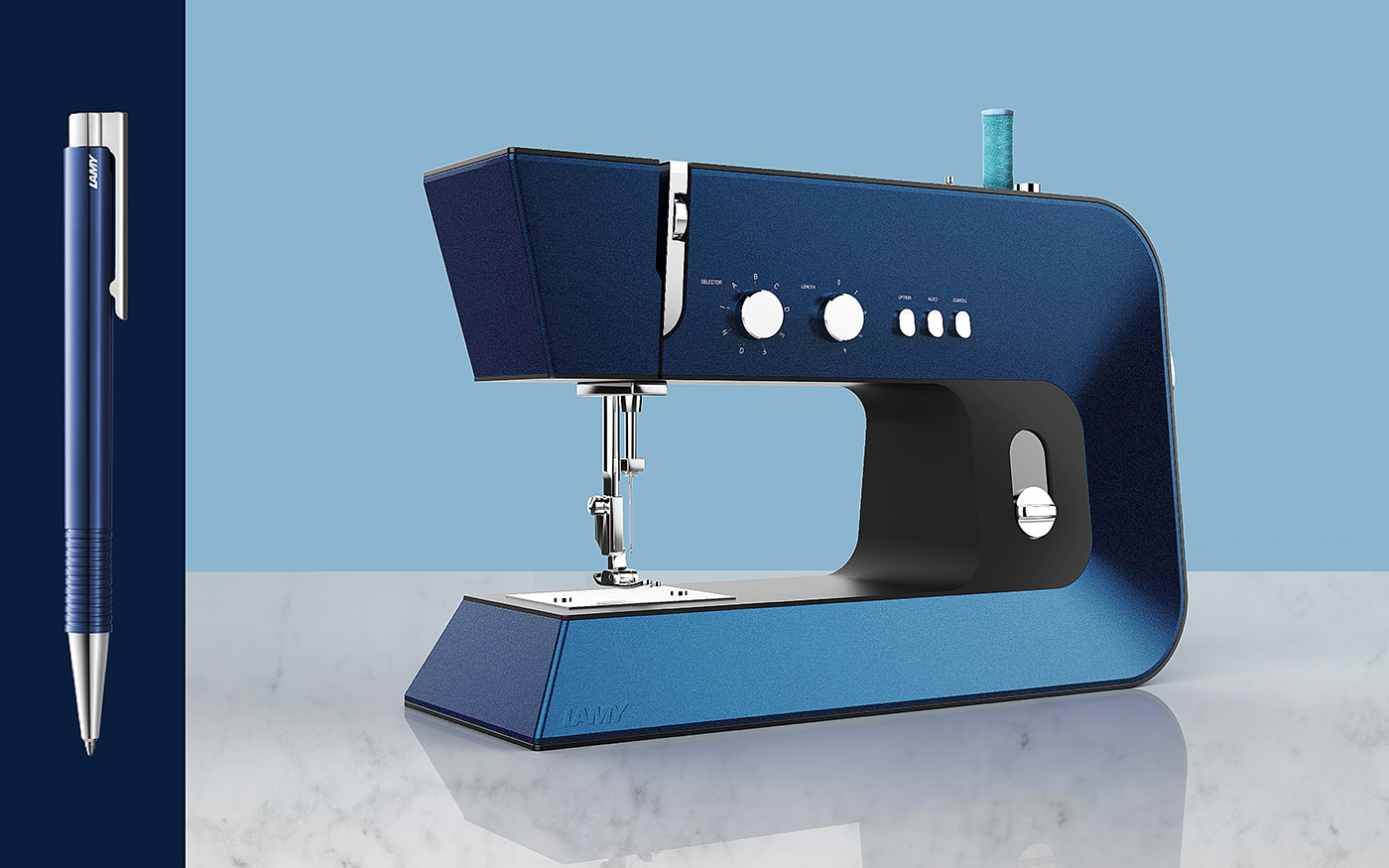 sewing machine lamy pen design color metal
