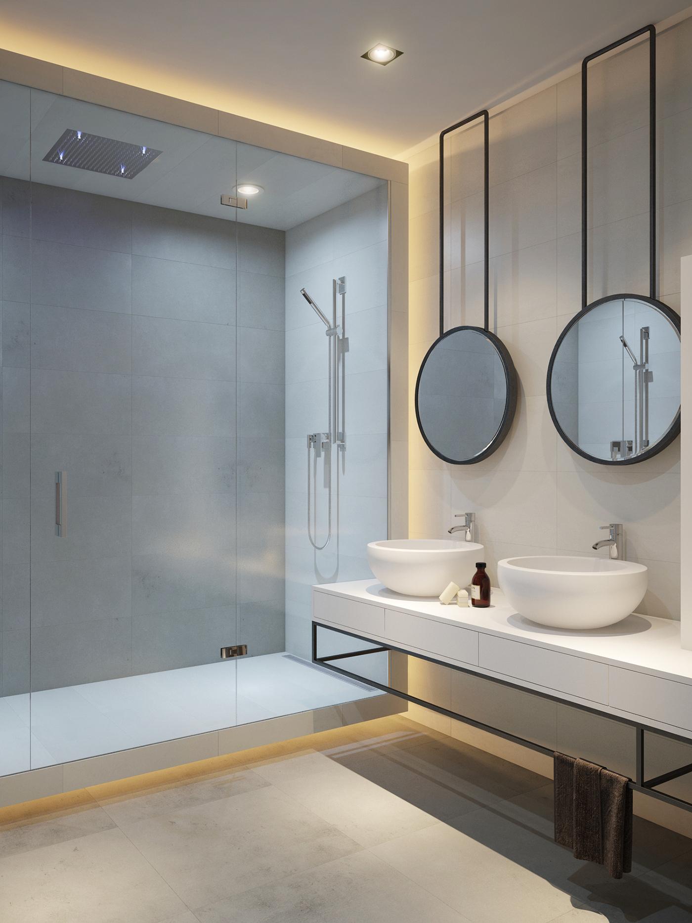 Bathroom visualization on Behance