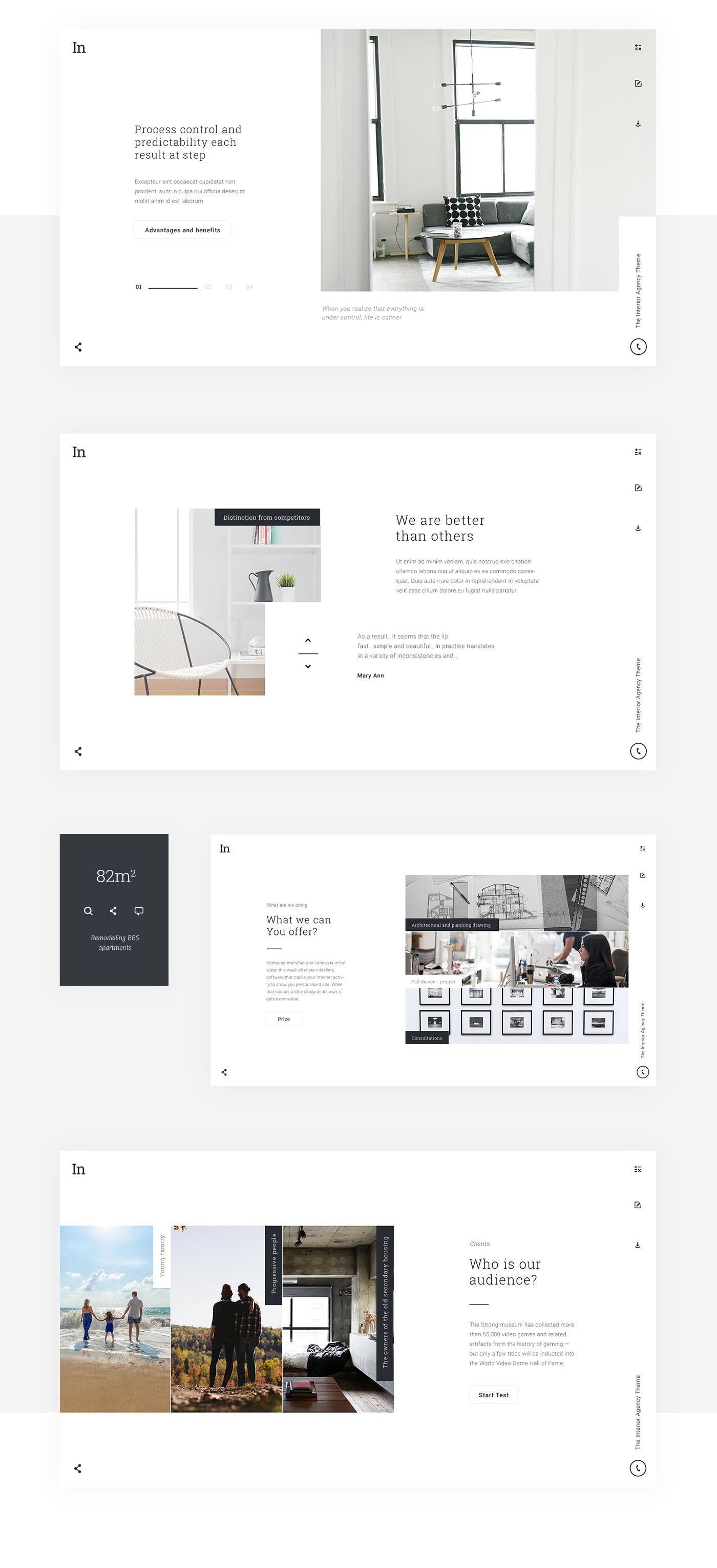 free Theme Interior Teamplate psd Webdesign UI ux