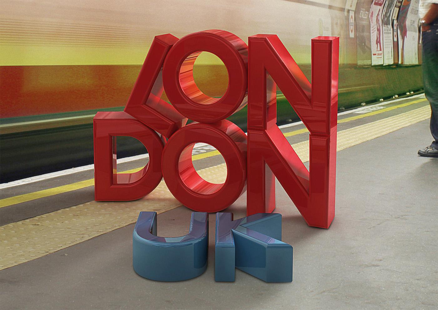 Adobe Portfolio 3D type compositing photoshop cinema 4d concrete textures Melbourne London  new zealand India  bolivia photo Australia