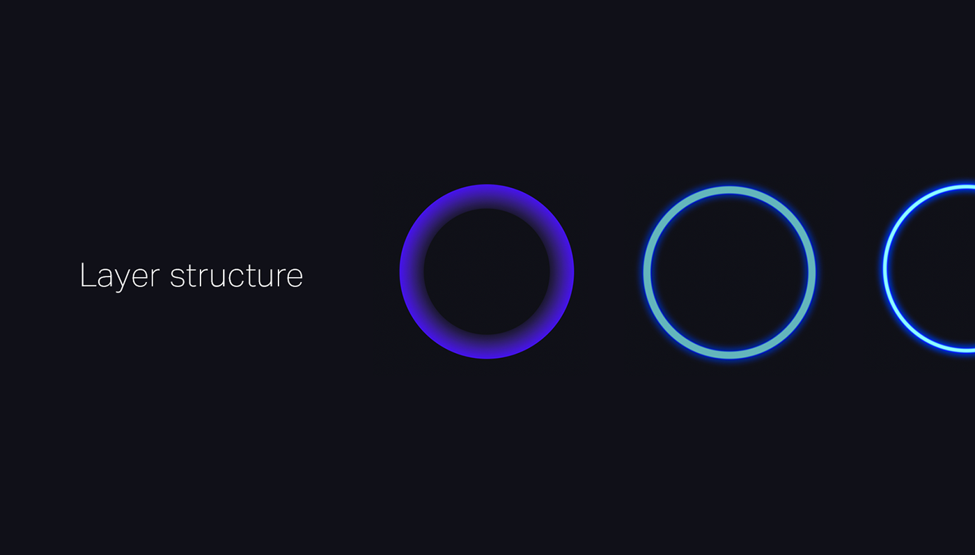 ai design product UI ux circle glow interaction motion ASSISTANT